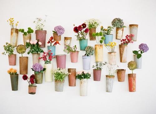 pretty pots + flowers