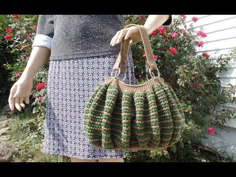 How To #Crochet Easy Handbag Purse #TUTORIAL #341 - YouTube