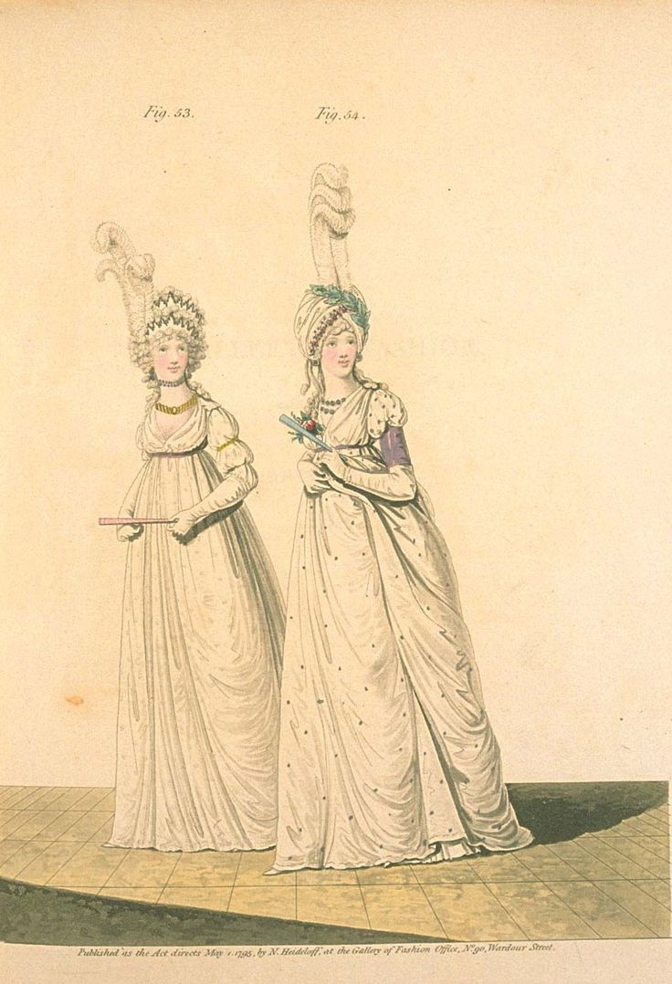 Gallery of fashion May 1795 - Afternoon dresses