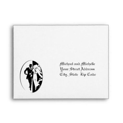 79 best Elegant Wedding Envelopes images on Pinterest Elegant - wedding rsvp envelope size
