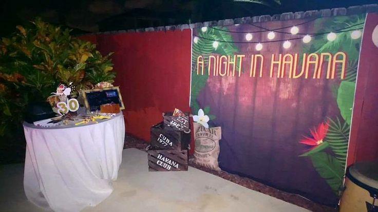 havana nights photo booth decor by premierepartydeco com