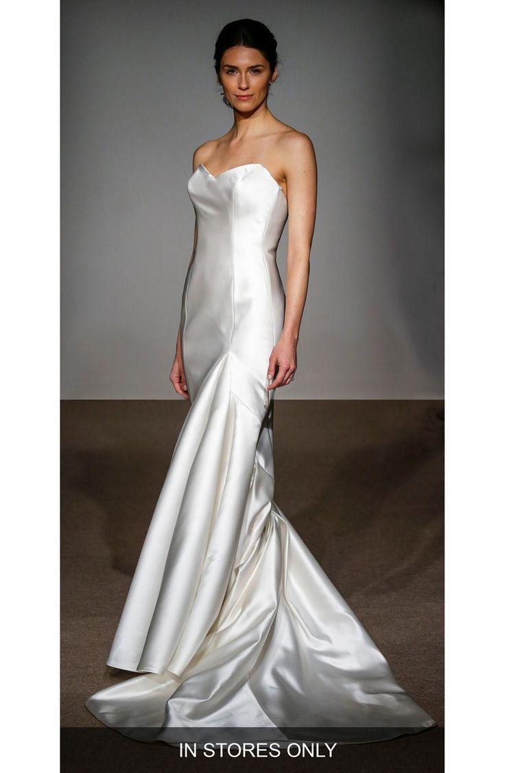 Main Image - Anna Maier Couture Stefanie Strapless Silk Duchess Satin Mermaid Gown (In Stores Only)