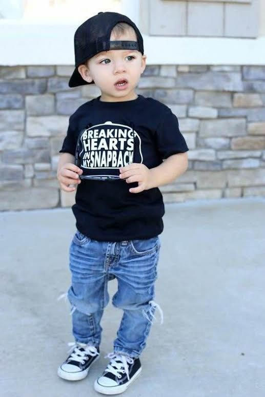 snapback shirt, trendy baby boy clothes, hipster baby clothe... Baby Dress