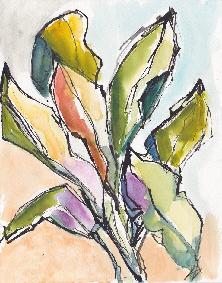 Tropical Floral Foliage Banana Leaves Garden Caribbean Watercolor Painting Print by vhmckenzie on Etsy https://www.etsy.com/listing/105787732/tropical-floral-foliage-banana-leaves