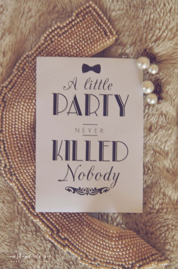 a little party never killed nobody wine label by twilaco on etsy gatsby pinterest. Black Bedroom Furniture Sets. Home Design Ideas