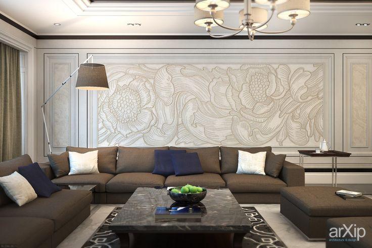 Фото Гостиная в роскошно квартире г. Ярославль. - интерьеры, квартира, дом, гостиная, неоклассика, 30 - 50 м2, средний