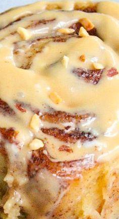 Crock Pot Cinnamon Rolls with Caramel Cream Cheese Frosting