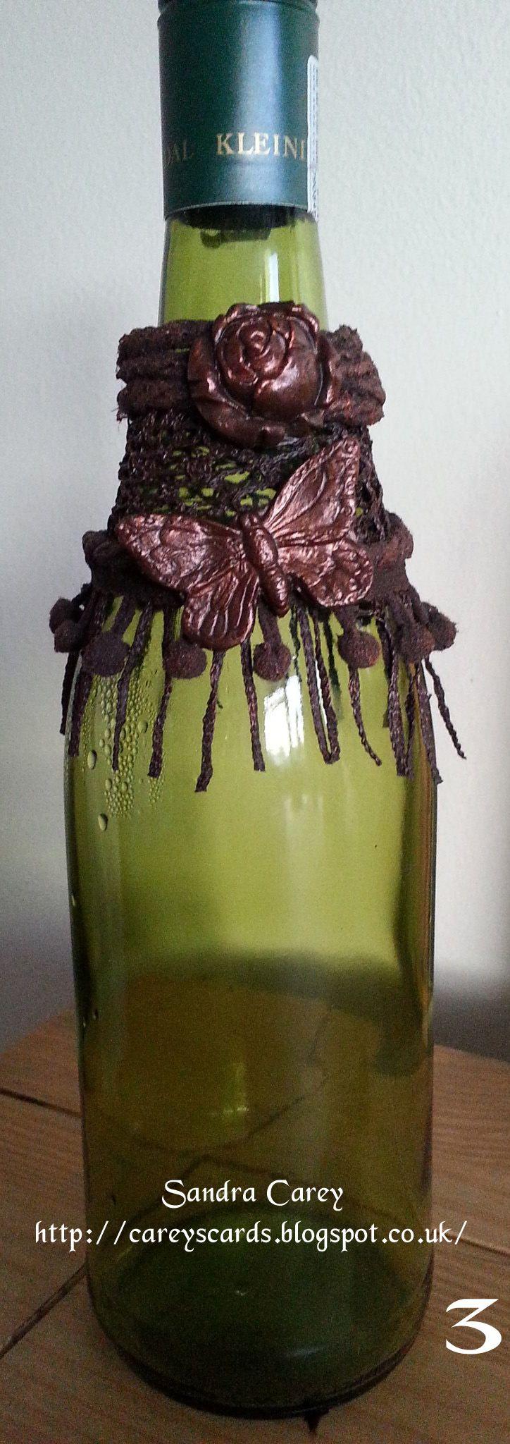 Wine bottle charm Powertex