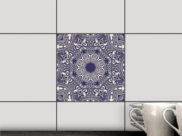 Blue Mandala für Fliesen Fliesenfolie Quadratisch 15x15 cm - 1x1 Bild 1