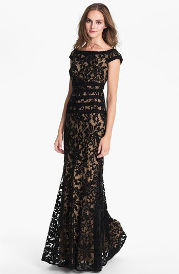 Tadashi Shoji Textured Lace Mermaid Gown | Nordstrom.. elegant and simple.. like it