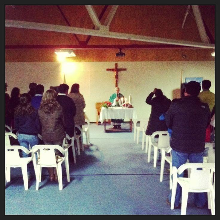 Familia del Valle del Aconcagua asiste a Misa Familiar