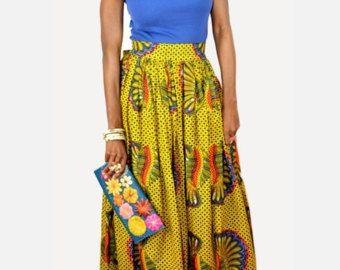 African clothing African skirt African fabric par BoutiqueMix