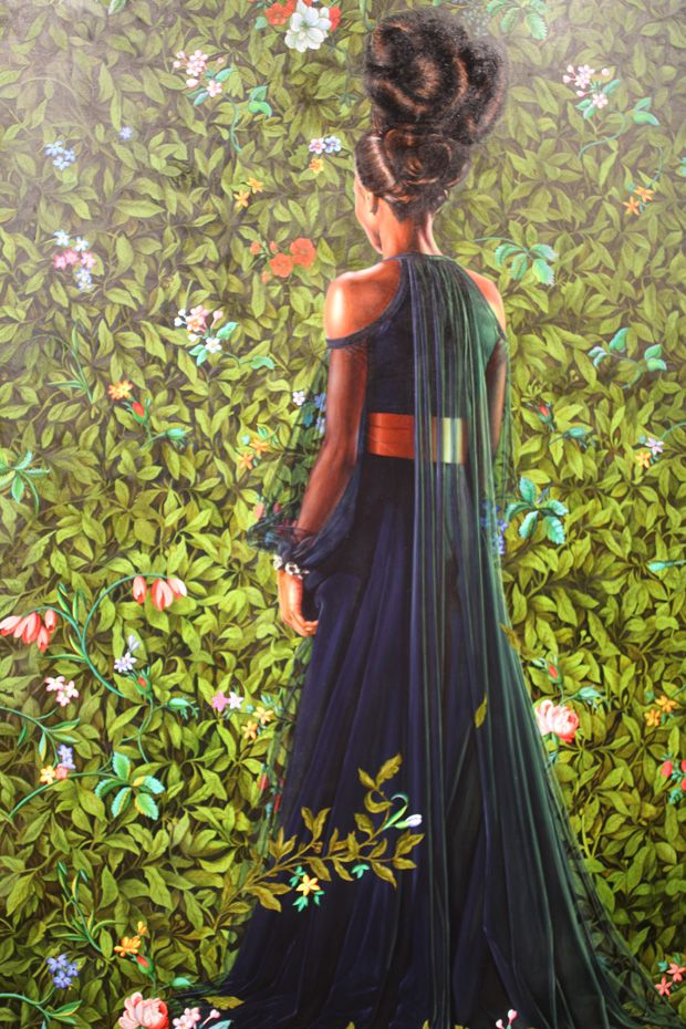 Princess Victoire of Saxe-Coburg-Gotha, 2012. Oil , Kehinde Wiley