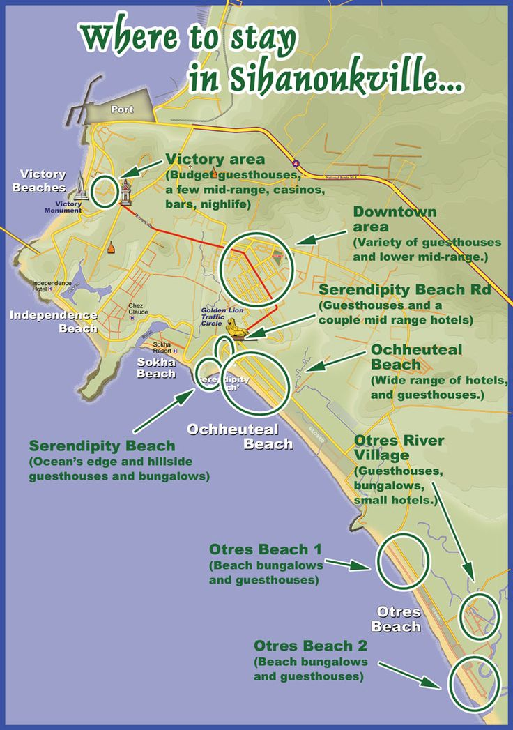 Sihanoukville   Hotels Map   Cambodia