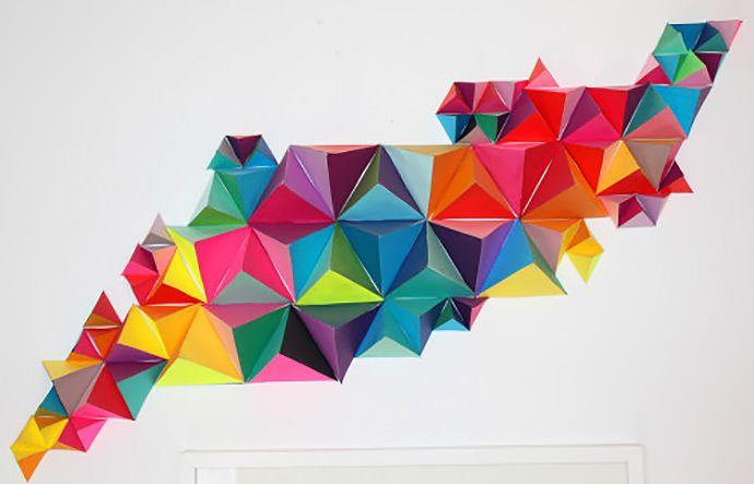 DIY 3D Geometric Paper Sculpture via MAKE