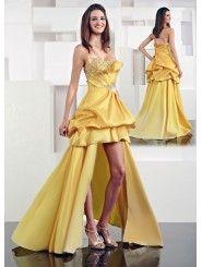 Taffeta Modified Sweetheart Asymmetrical Side Draped Bodice Long Prom Dress