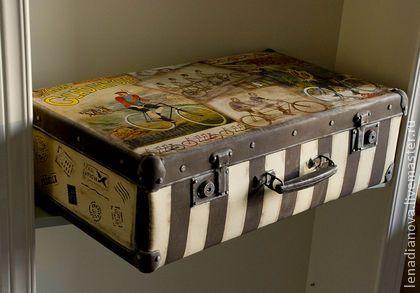 """Чемоданы ручной работы. Ярмарка Мастеров - ручная работа Чемодан """"В путешествие"""". Handmade."""