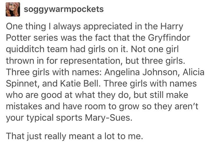 Angelina Johnson, Harry Potter, hp, Alicia spinnet, Katie bell