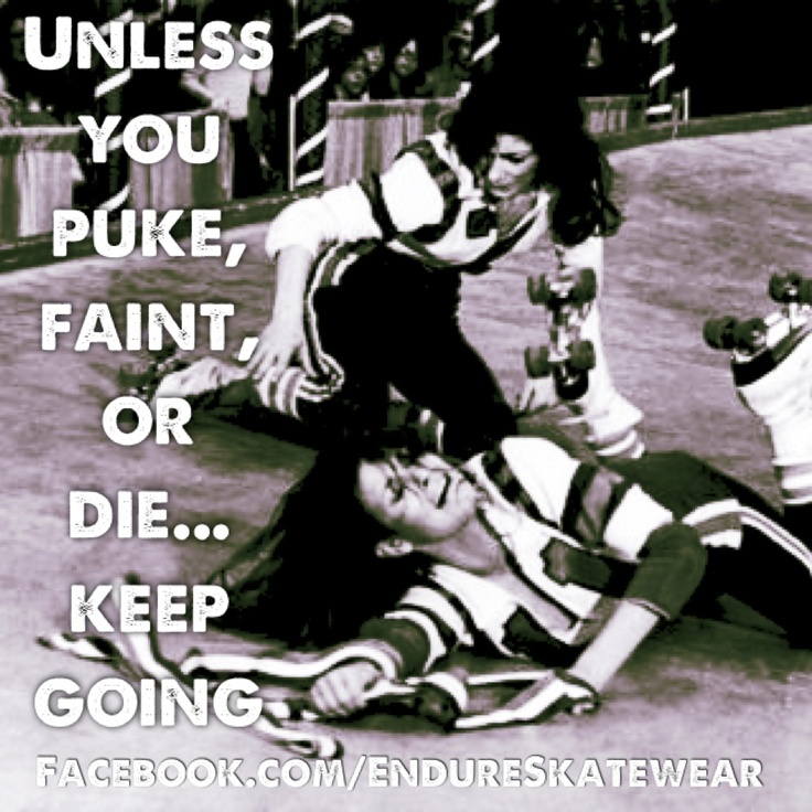 Meh.... puking happens... fainting or dying is ok to stop... but puking, nah!  Happens a lot!  Keep going!