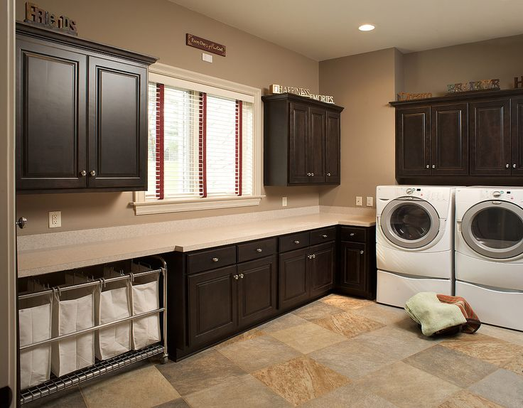 Raised Washer/dryer Make Loading And Unloading Easy But Take Away From  Usable Counter Space. Traditional Laundry Room By Mullet Cabinet