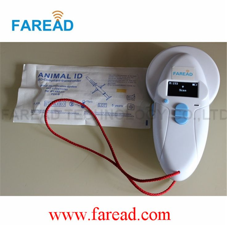 Free Shipping   x1pc  Animal ID Scanner +x50pcs 2.12*12mm ISO11784/5 FDX-B  veterinary syringe #Affiliate