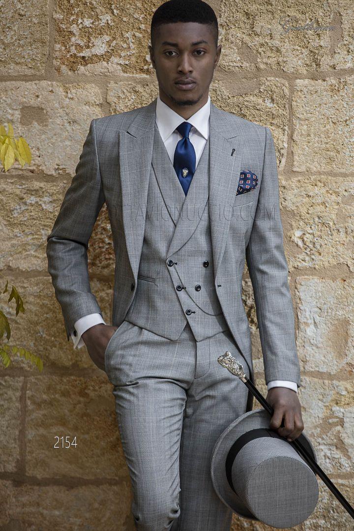 Vestito uomo principe di galles grigio da sposo | Abiti