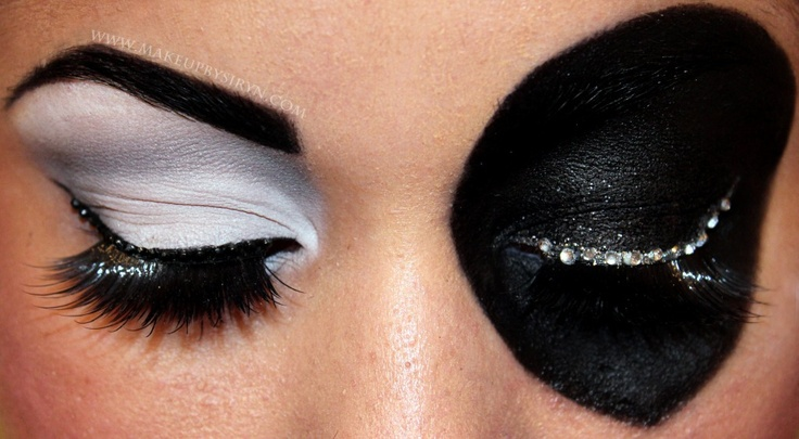 X-Men Domino. Awesome comic book-inspired make-up from Make Up by Siryn.