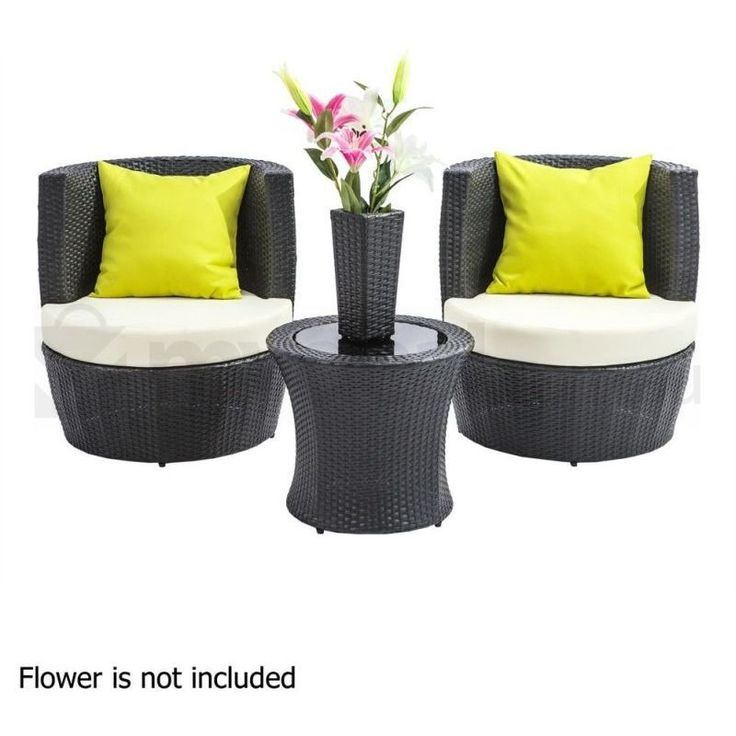 Maldives Pe Wicker Black Outdoor Furniture Set Buy Outdoor Lounge Settings