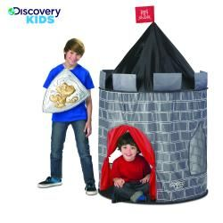 @Overstock - Keep children entertained for hours with this pop-up kids' play castle made by Discovery Kids. Constructed of durable nylon, it has four plastic tent poles that are flexible for easy assembly. A carrying case is included for convenience.http://www.overstock.com/Sports-Toys/Discovery-Kids-Indoor-Outdoor-Knight-Play-Castle/6959175/product.html?CID=214117 $26.99