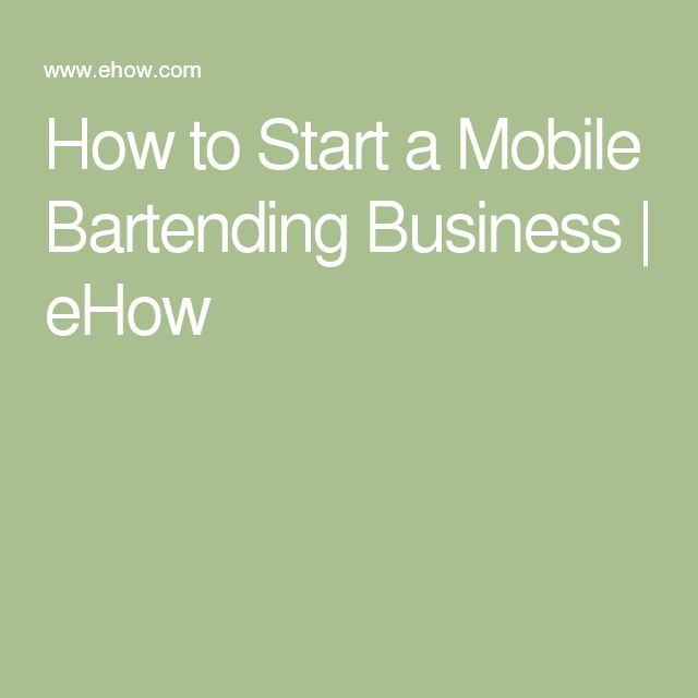 Business Plan For Mobile Bartender