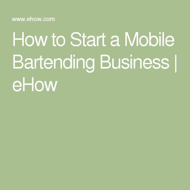 Business Plan For Mobile Bartender