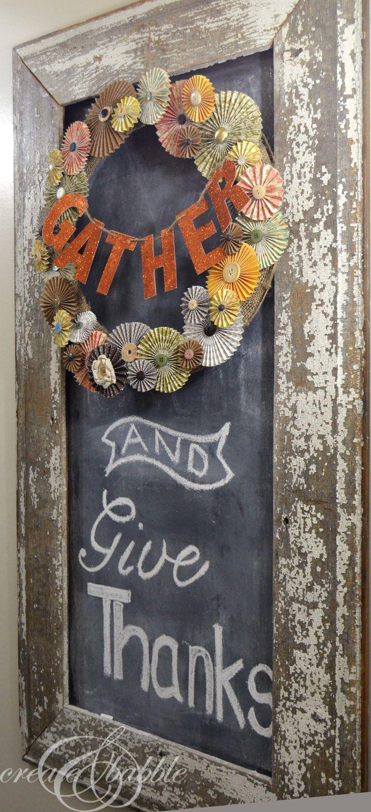 Thanksgiving Chalkboard Decor