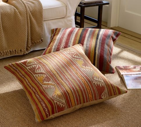 PB Found Stripe Kilim Cube Cover Floor Pillows & Stools Pinterest Products, Floor pillows ...