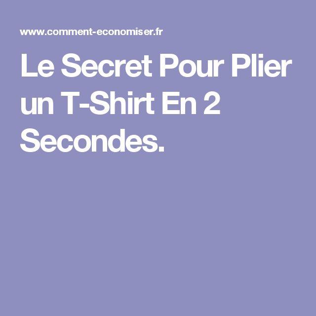 17 meilleures id es propos de plier les v tements sur - Comment plier un t shirt ...