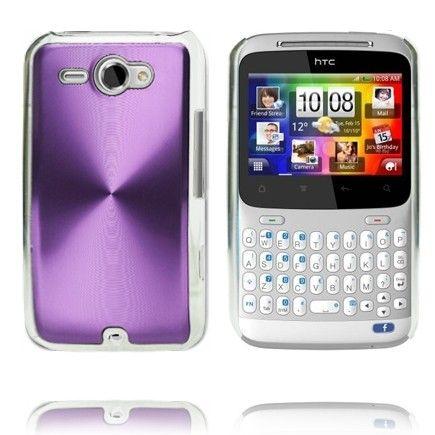 Alumiini Suojus (Violetti) HTC ChaCha Suojakuori
