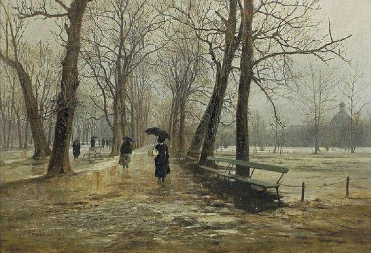 Saski Garden in Warsaw, 1887 by Aleksander Gierymski