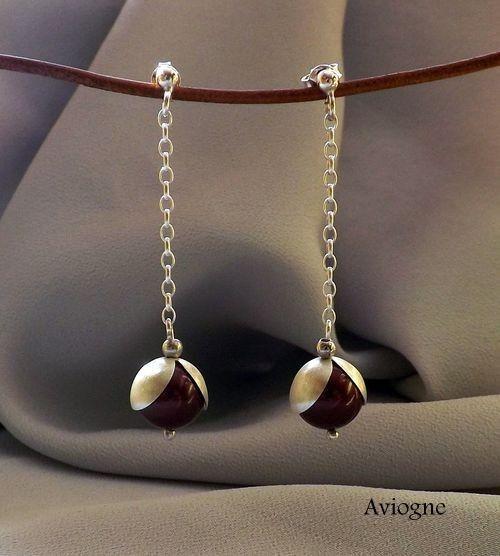 Kolczyki perły - Kolczyki - Biżuteria srebrna