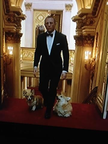Daniel Craig with the Royal Corgis - my favorite part of the Olympics Opening!