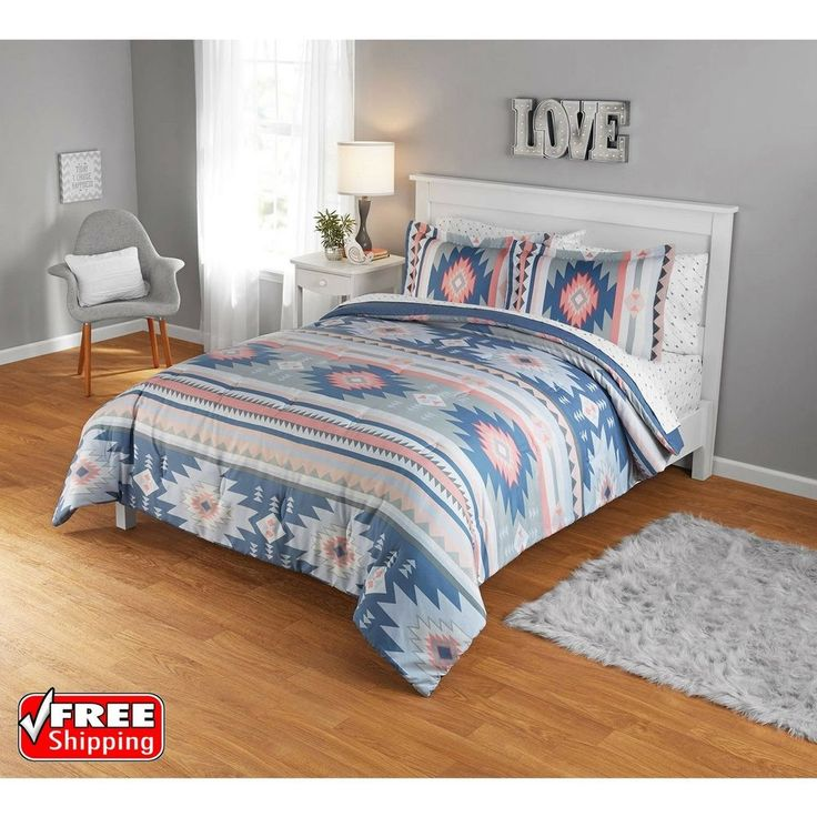 Comforter Set Full Queen Bedding Aztec Geo American Southwest Symbols 3Pc Soft | Home & Garden, Bedding, Comforters & Sets | eBay!