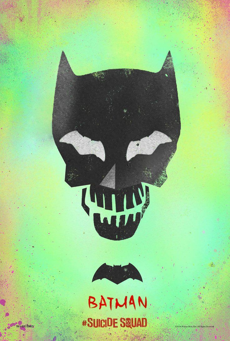Bat-Eyes Batman Suicide Squad Movie Poster by sonathane
