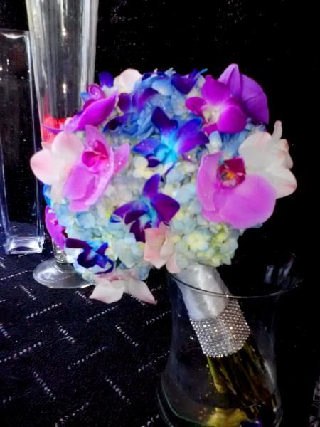 Hydrangea Bridal Bouquets | Orchid and Hydrangea Bouquet - Wedding Flowers Gallery