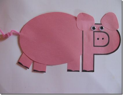 17 best images about pig storytime on pinterest piglets for Letter p preschool crafts