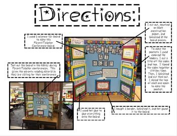 ParentTeacher-Conference-Packet, board with materials for parents to take