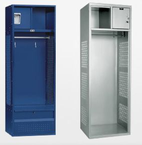 Open Access Metal Athletic Lockers - The Locker Man, Inc.