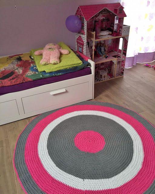 Szydełkowe Impresje: Dywan dla Mai / Maya's crochet rug #crocheting #szydełko #crochet #rug #dywan #sznurekbawełniany #cottoncord #design #scandi #decor #4kids #kidsrooms #scandinavianstyle #handmade #diy #rekodzielo #impresje
