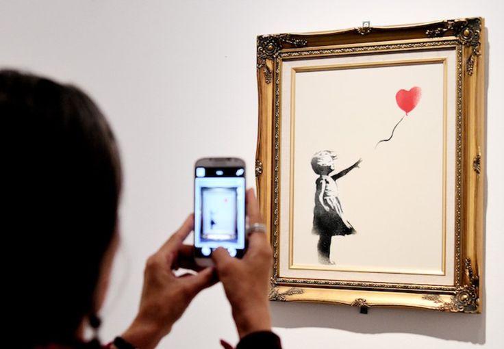 Reino Unido elige graffiti de Banksy como su obra preferida