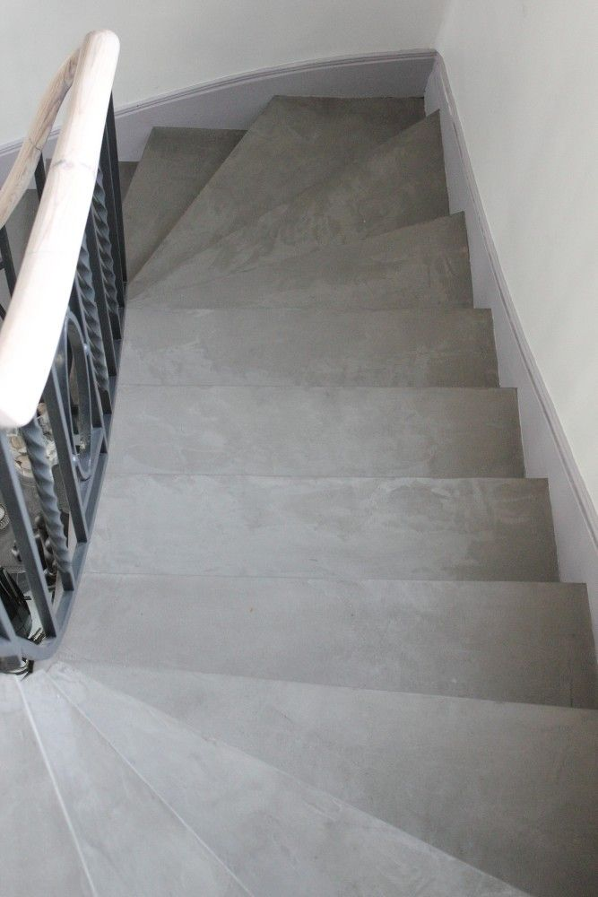 Escalier béton ciré Mont-Saint-Aignan (76)