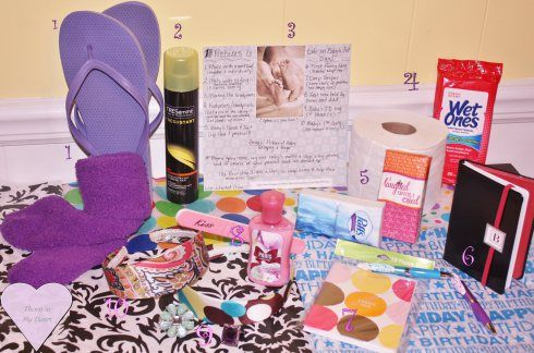 Hospital Survival Kit for new moms…what a good gift for a mom-to-be!