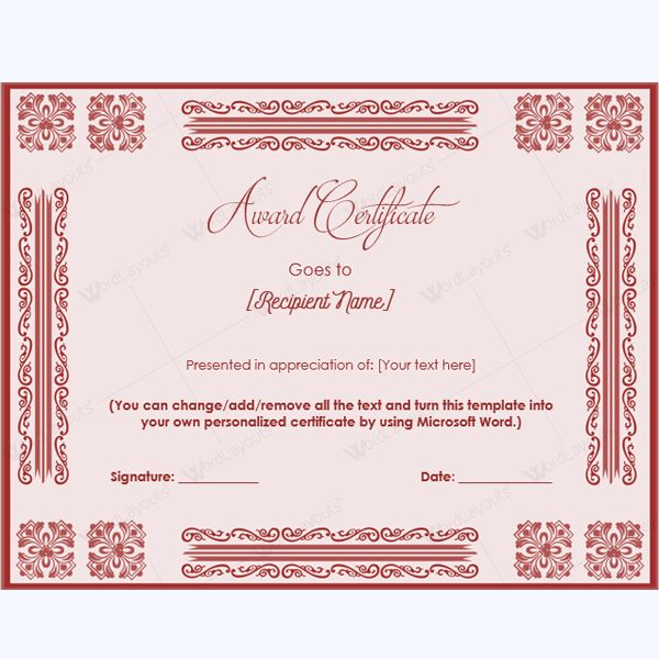 99 best award certificate templates images on pinterest award printable award certificate template formalaward awardcertificate formalawardcertificate yelopaper Image collections