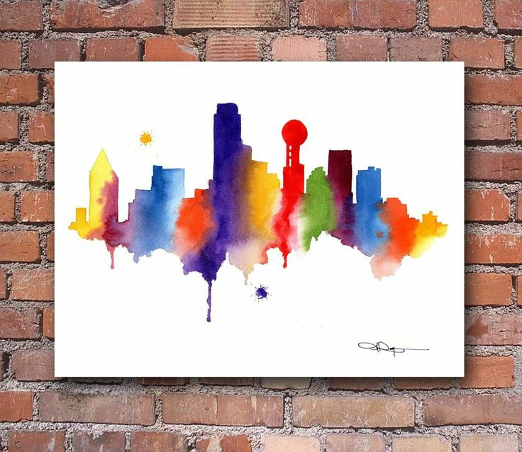 Best 25 dallas skyline ideas on pinterest for Dallas mural artists